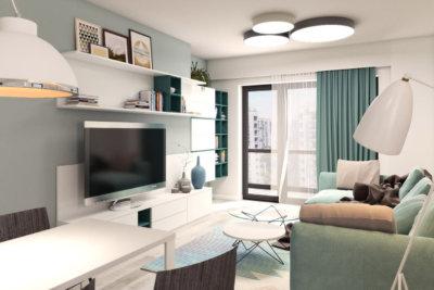 2 rooms Apartment - D2 type, Solis building