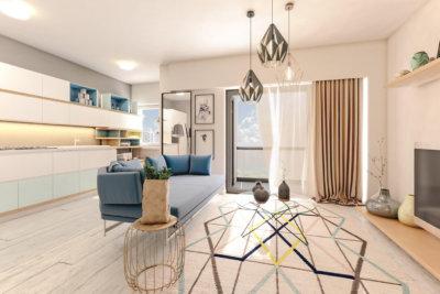 3 rooms Apartment - F type, Solis building